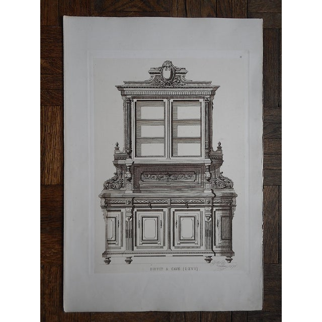 Antique Furniture Lithograph Folio Size - Image 2 of 3