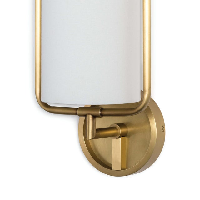 Transitional Geo Rectangle Sconce (Natural Brass) For Sale - Image 3 of 5