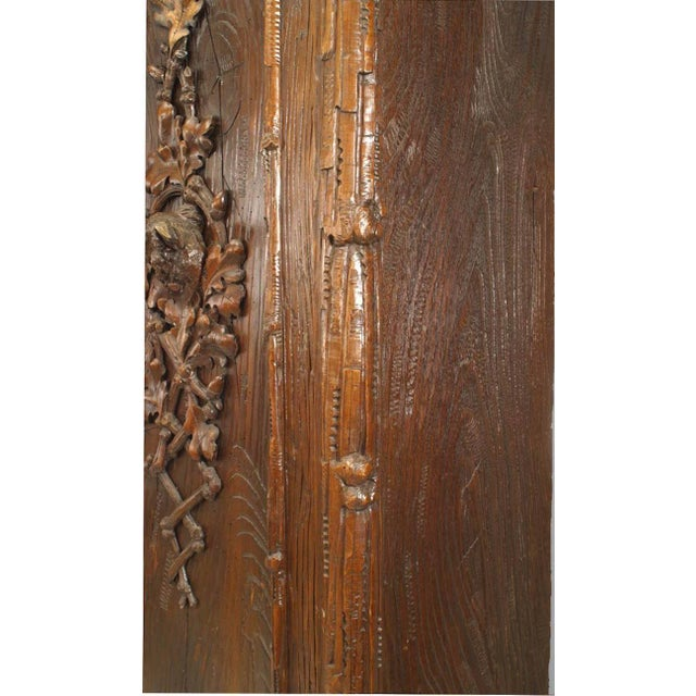 Rustic Black Forest 19th Century Walnut Three-Section Armoire Cabinet For Sale - Image 9 of 11