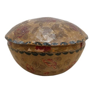 Large Paper Mache Covered Container