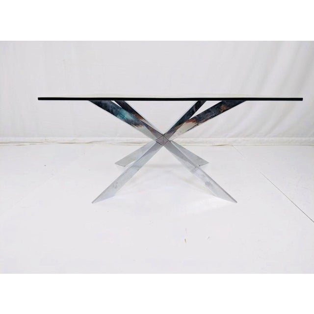 Metal Pace Collection Chrome and Glass Coffee Table Mid Century For Sale - Image 7 of 9