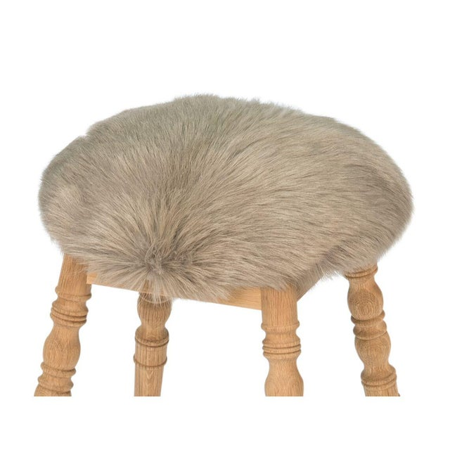 2010s Sarreid Ltd 'Winoma' Beige Stool For Sale - Image 5 of 6