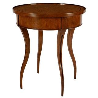 William Switzer Walnut Round Designer Side Table For Sale