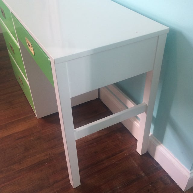 Lacquered Vintage Campaign Desk - Image 5 of 6