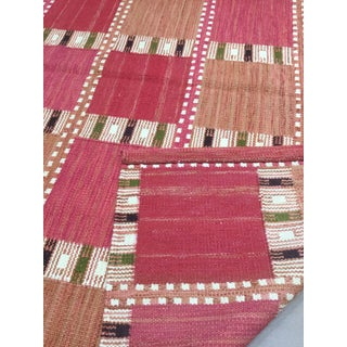 Swedish Design Hand Woven Wool Flatweave Rug - 8′4″ × 10′1″ Preview