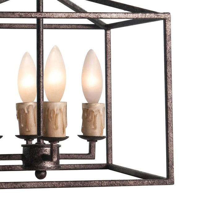 Traditional Cape Lantern Extra Small in Blackened Iron For Sale - Image 3 of 6