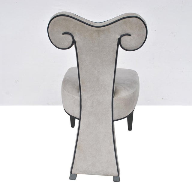 Pair of Rams Head Dining Side Chairs by Brueton For Sale In Houston - Image 6 of 11