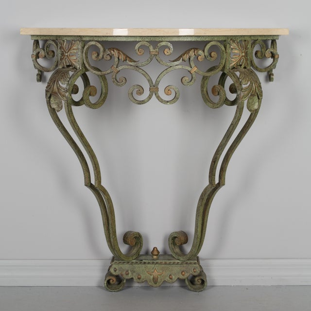 French Louis XV Style Iron Console For Sale - Image 4 of 9