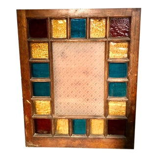 Antique Arts and Crafts Stained Glass Window For Sale