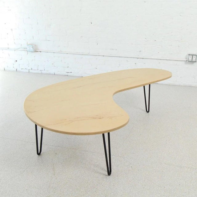 Vintage Faux Marble Boomerang Coffee Table For Sale In Los Angeles - Image 6 of 6