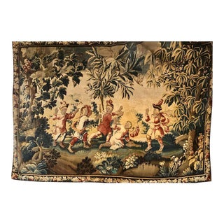 Large 19th-20th Century Aubusson Figural Tapestry For Sale