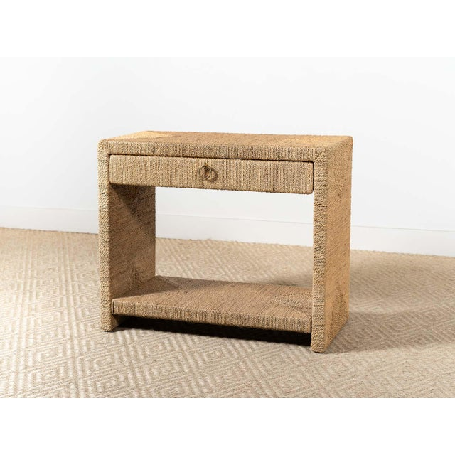 Traditional Woven Rope Side Table For Sale - Image 6 of 6