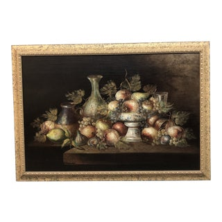 Original Italian Artwork Still Life With Fruit, Signed by Artist For Sale