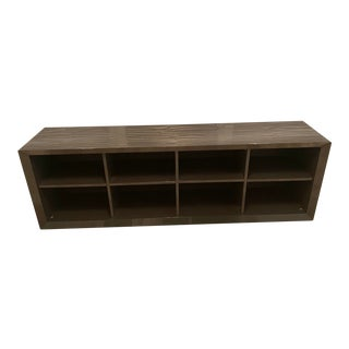 Sangiacomo Mid-Century Modern Low Bookcase For Sale