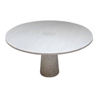 Angleo Mangiarotti Center Table in Carrara Marble, circa 1970