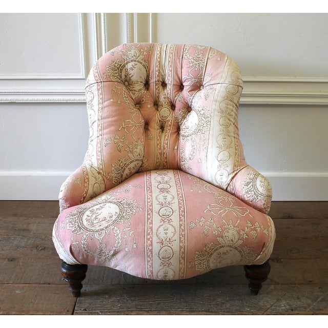 19th Century Napoleon III Button Tufted Chair For Sale - Image 12 of 12