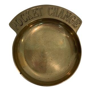 1980s Brass Pocket Change Dish For Sale