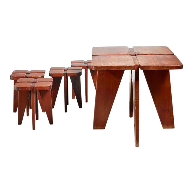 Lisa Johansson-Pape Table and Stools for Stockman, 1950s For Sale
