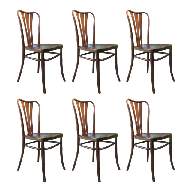 Vintage Dining Chairs by Thonet, 1930s - Set of 6 For Sale