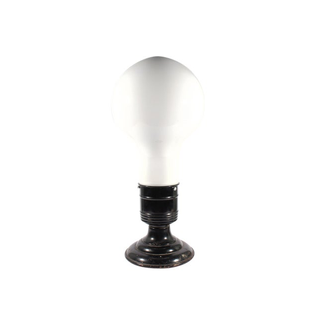Vintage Industrial Style Lightbulb Table Lamp For Sale