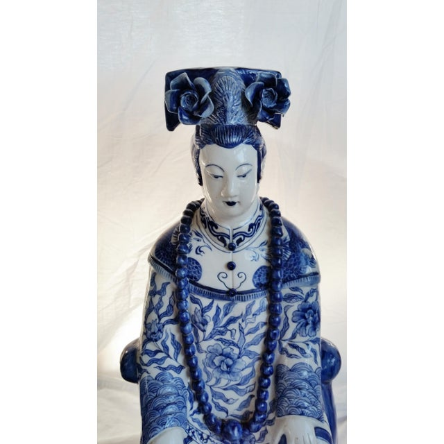 Very Large Scale Chinese Blue & White Figures - Image 5 of 9