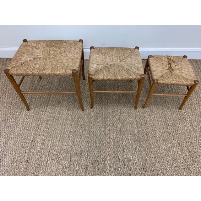 1960s Gio Ponti Style Nesting Stools- Set of 3 For Sale - Image 5 of 9