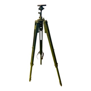 Vintage Metal and Wood Tripod For Sale
