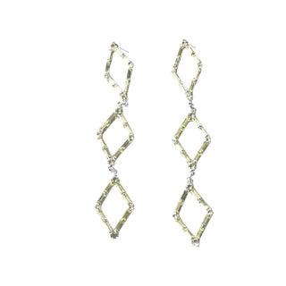 Yellow Queen of Diamonds Earrings For Sale