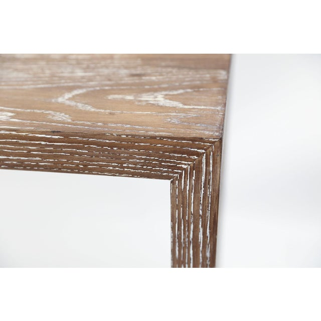 White Mid-Century Cerused Oak Console For Sale - Image 8 of 13