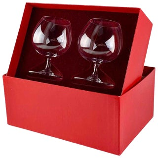 Baccarat Crystal Perfection Balloon Brandy Snifter Pair For Sale