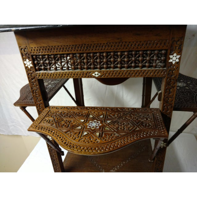 Late 19th Century 19th Century Anglo Indian Inlaid Wood Tea Table For Sale - Image 5 of 10