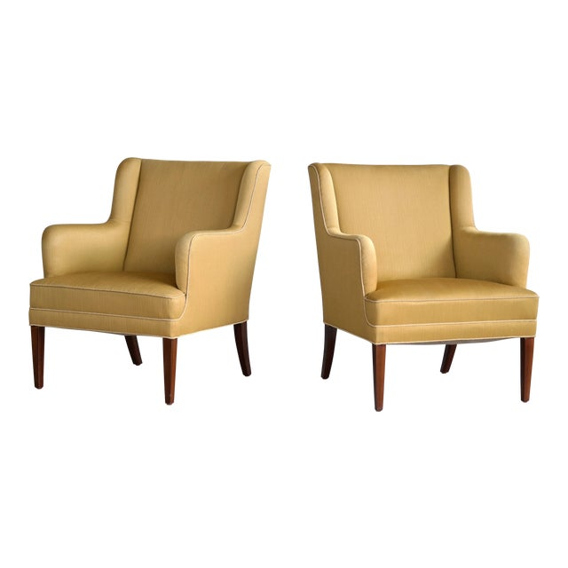 Frits Henningsen Pair of Lounge Chairs Denmark, Circa 1950 For Sale