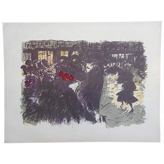 Vintage Pierre Bonnard Lithograph, Paris Scene For Sale
