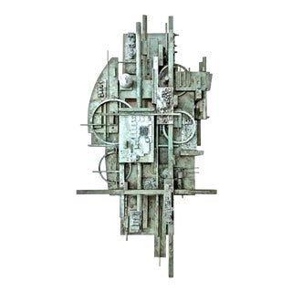 ARCHITECTURAL WALL SCULPTURE BY LAWRENCE HELLER For Sale