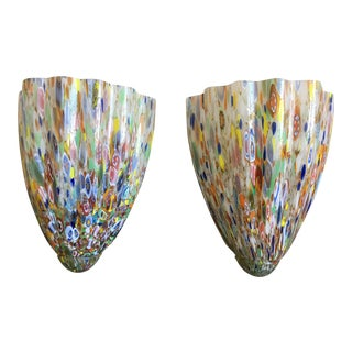 Venetian Glass Sconces - a Pair