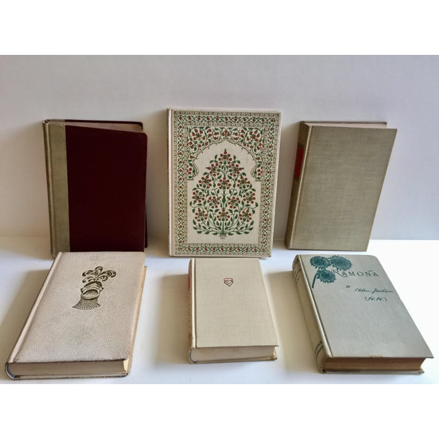 Cream Colored Vintage Books - Set of 6 - Image 4 of 4