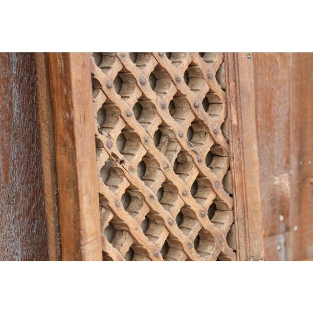 Antique Teak Jali Window Mirror For Sale In Los Angeles - Image 6 of 10