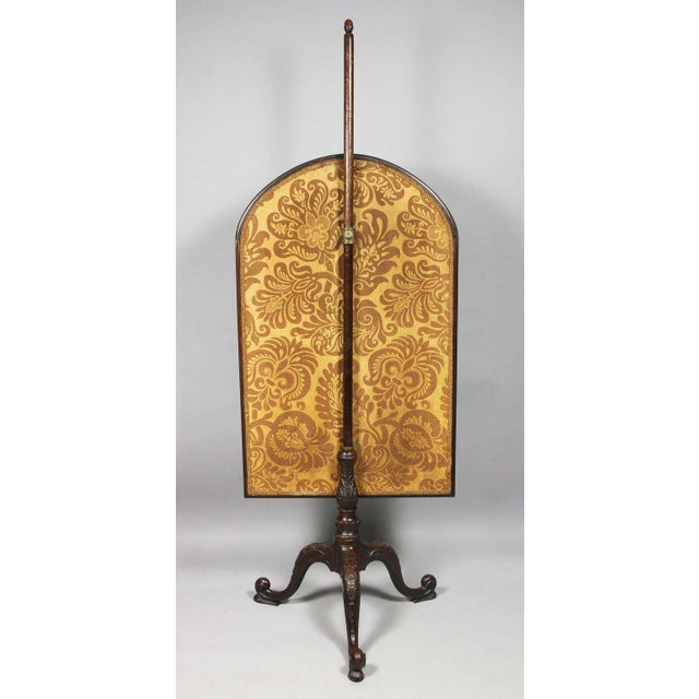 Mahogany George III Mahogany And Needlepoint Fire Screen For Sale - Image 7 of 8