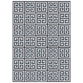Jonathan Adler Black & White Rug - 4′ × 6′ For Sale