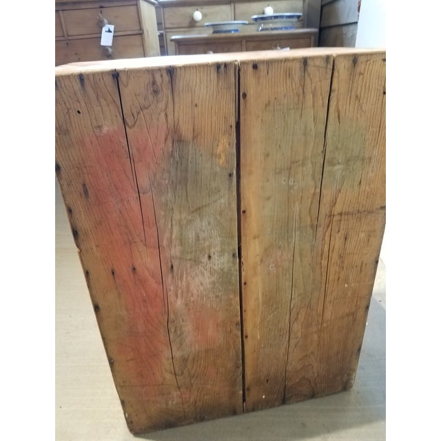 1880 Antique Pine Cabinet/Chest For Sale - Image 4 of 13