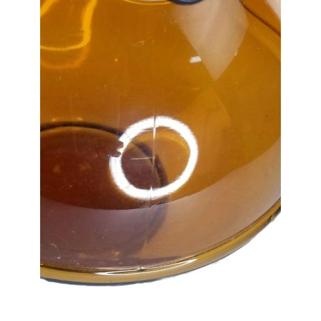 Amber Mid-Century Modern Amber Art Glass Hand Blown Iced Tea Lemonade Set - Set of 6 For Sale - Image 8 of 9