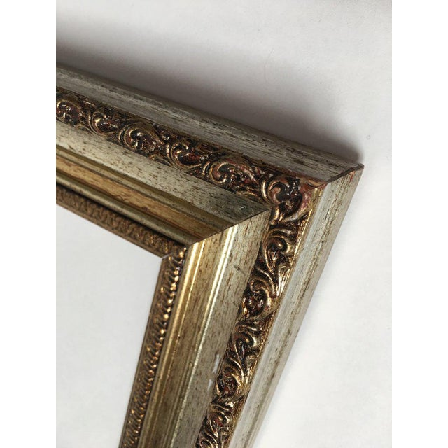 Large 34 X 28 Italian Gold and Silver Giltwood Ornate Wood Frames - a Pair For Sale - Image 11 of 13