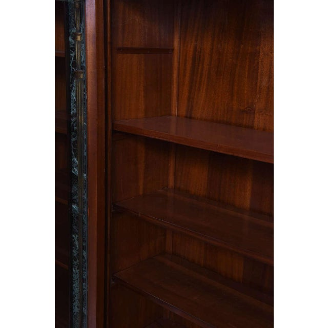 1940s Italian Modern Palisander and Marble Bookcase, Attributed to Paolo Buffa For Sale - Image 5 of 9