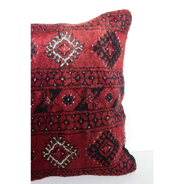 Boho Chic Carpet Pillow For Sale - Image 4 of 11