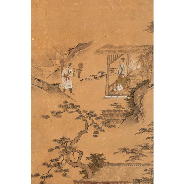 Antique Japanese Screen Panels For Sale - Image 4 of 12