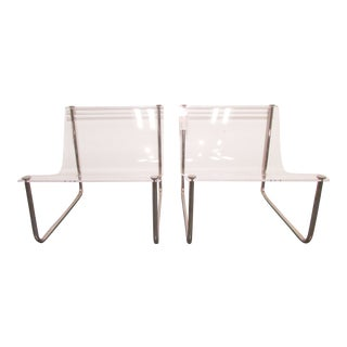 Charles Hollis Jones Lucite Chairs - A Pair