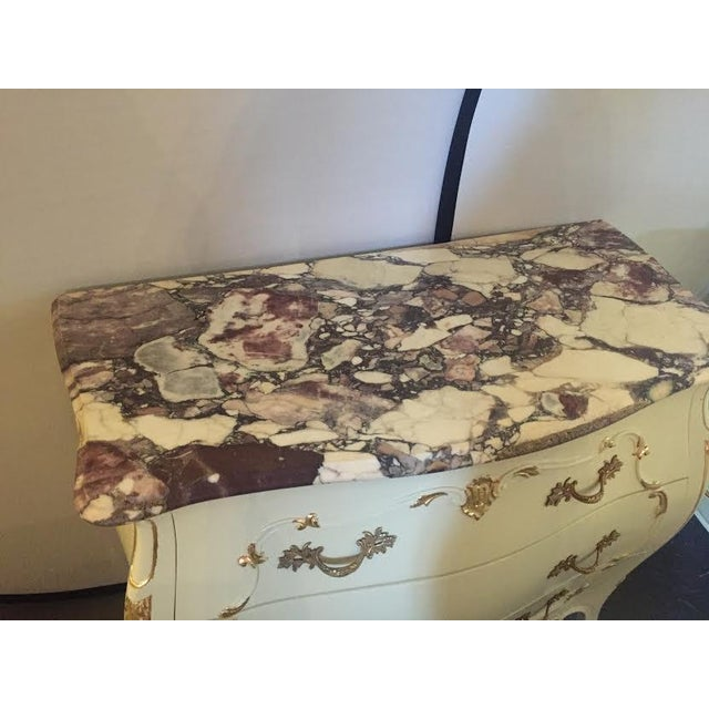 Paint Decorated Marble Top Chests- A Pair - Image 3 of 10