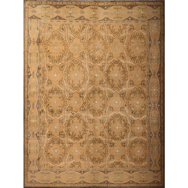 Mid 20th Century Hand Knotted Geometric Alcaraz Rug - 8′11″ × 12′ For Sale - Image 5 of 5