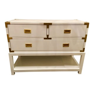 Bungalow 5 Julian White Lacquered Console For Sale