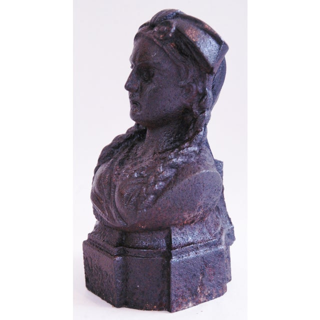 19th Century French Iron Lady Bust Fragment - Image 4 of 9